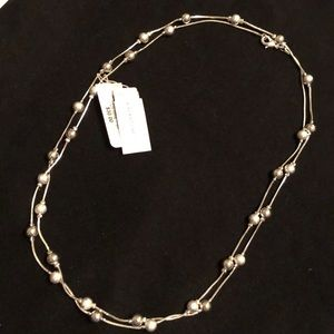 Charter Club silver beaded necklace